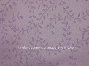 100% Polyester Quality Jacquard Leaf Design Wide Width Table Cloth pictures & photos