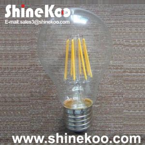 Glass A60 6W LED Filament Bulb (SUN-6WA60) pictures & photos