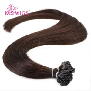 Top Quality Nail Hair Extension Natural Indian Remy Human Hair pictures & photos