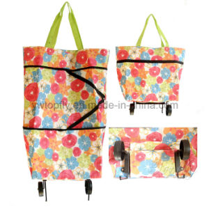 600d Printing Polyester Shopping Bag with Wheels pictures & photos