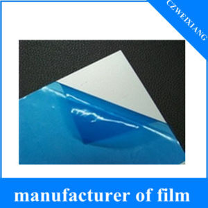 Colored Stretch 0.03mm~0.10mm Thickness Window Clear Surface PE Blue Protective Plastic Film pictures & photos