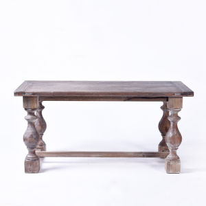European Retro Do The Old Technology Wooden Dining Table