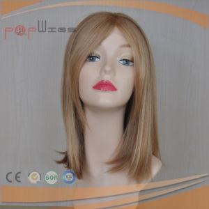 Human Hair Bangs Wig, Jewish Kosher Women Blond Wig pictures & photos