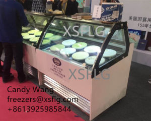 Italian Gelato Ice Cream Showcase for Sale pictures & photos