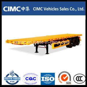 Cimc Tri-Axle 40′ Flat Bed Semi Trailer pictures & photos