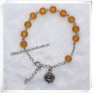 Religion Colored Pictures Metal Saint Rosary Bracelet (IO-CB138) pictures & photos