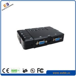 4 Ports Plastic VGA Kvm Switch pictures & photos