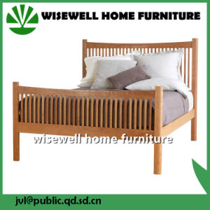 Sollid Pine Wood Queen Size Bed for Adult pictures & photos