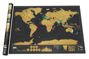 Travel Map Black Scratch Map World Map for Wholesale