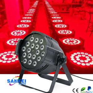 Super Brightness 18*10W LED PAR Rgbwauv PAR LED Stage Lighting