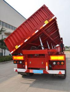 3 Axles Side Rolling Dumping/Dumper Truck Trailer