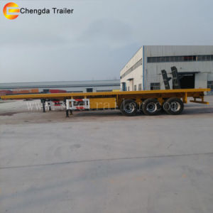 3 Axles 40ft Container Transport Semi Trailer pictures & photos