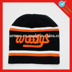 Acrylic Winter Embroidery Knit Beanie pictures & photos