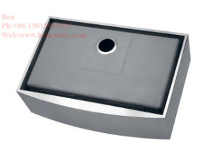 Stainless Steel Apron Front Single Bowl Handmade Kitchen Sink with CSA Ceritification pictures & photos