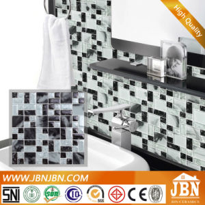 8mm Thickness Ice Crack Black and White Glass Mosaic (G855005) pictures & photos