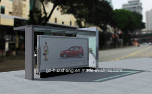 Stainless Steel Bus Stop Shelter (HS-BS-E032) pictures & photos