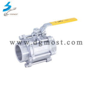 3 PC 304/316 Casting High Platform Full Bore Ball Valve pictures & photos