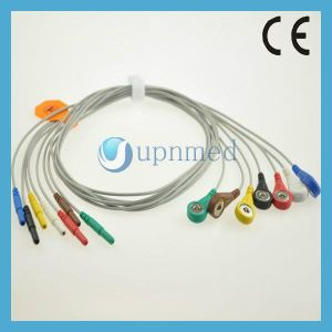 Holter ECG 7 Lead Wires Set, DIN2.0 pictures & photos