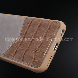Khaki Color Crocodile Genuine Leather Case for iPhone 6 Plus pictures & photos