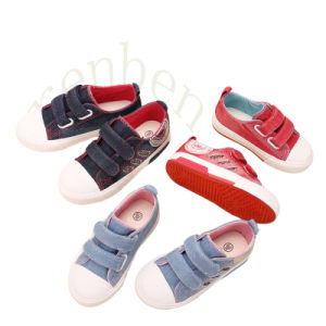 2017 Hot Arriving Children′s Fashion Casual Canvas Shoes pictures & photos
