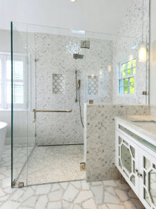 Hot Sale Tempered Frosted Glass Shower Prices pictures & photos