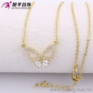 Xuping Fashion 14k Gold Color Butterfly Necklace (42526) pictures & photos