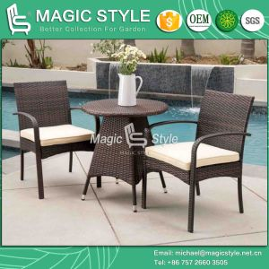 P. E Wicker Dining Set Synthetic Wicker Dining Chair Hot Sale (Magic Style) pictures & photos
