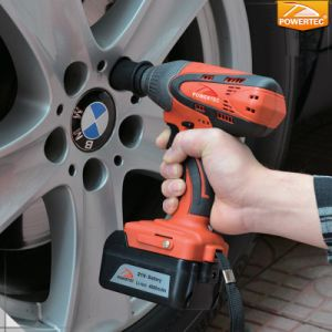 Powertec 18V Li-ion Battery Cordless Impact Wrench pictures & photos