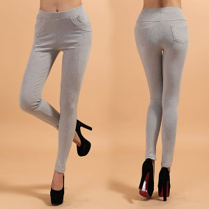 Sex Lady Cotton Leggings with Line Design
