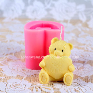 R0499 Cartoon Bear 3D Animal Candle Mold for Valentine′s Day