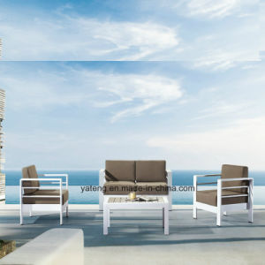 Compeitve Stackable Outdoor Garden Aluminum+PS-Wooden Furniture Sofa Set by Single & Double (YT923) pictures & photos