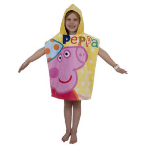 100% Cotton Kids Printe Bath Towel with Hood / Cap pictures & photos