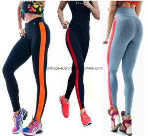 Good Quality Splicing Quickly Dry Yoga Pants Women Wear pictures & photos