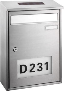 Stainless Steel Solar Mailbox with Doorplate pictures & photos