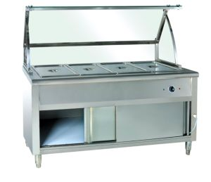 Bain Marie Hot Food Warmer Trolly with Cabinet pictures & photos