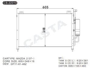 Condenser For Mazda 2 (07-) pictures & photos