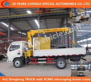 4X2 Dongfeng Light Truck with XCMG Telescoping Boom Crane pictures & photos