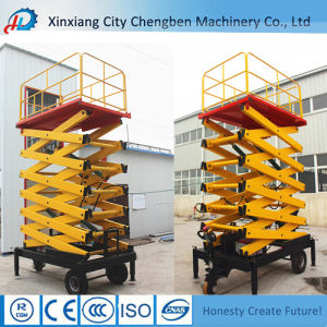 Electric Lifting Equipment Portable Hydraulic Towable Scissor Lift with Platforms pictures & photos