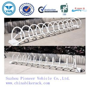 White Carbon Steel Bicycle Stand Bike Rack pictures & photos