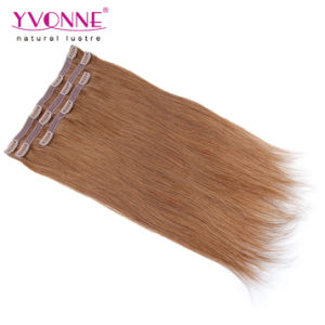Color #5 Straight Clip in Human Hair Extensions pictures & photos