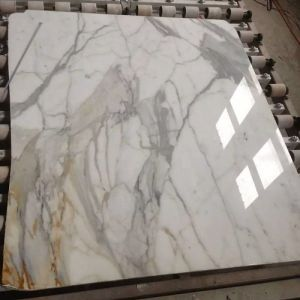 Polished Snow Flower White Marble Slabs for Hall Decoration pictures & photos