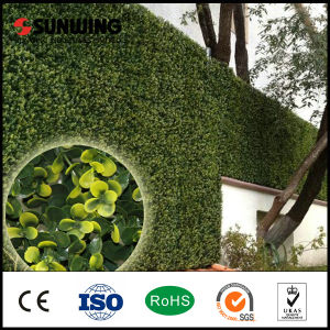 PVC Coated Yellow Artificial Foliage Leaf Wall Fence for Garden