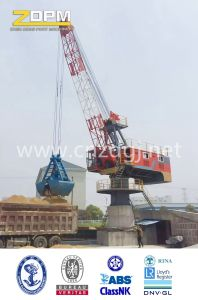 Fixed Dock Crane Luffing with Single Jib pictures & photos
