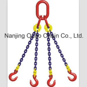 G80/G70/G60/G50/G43 High Test Iron Steel Link Chain with Hooks