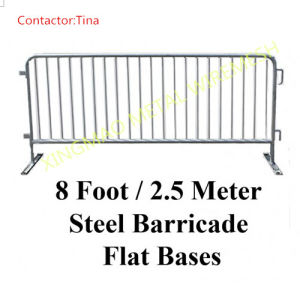 8ft*2.5m Steel Barricade with Flat Bases (XM-22) pictures & photos
