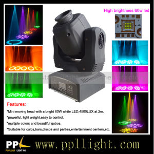 High Power 60W LED Mini Moving Head Spot Stage Lighting pictures & photos