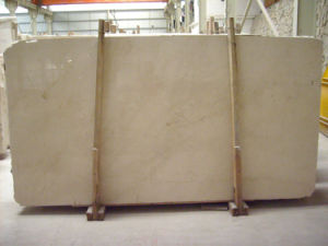Cream Marfil Marble Slab for Lobby Flooring pictures & photos