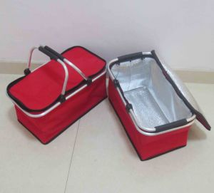 Foldable Picnic Basket with Aluminum Frame (SP-301) pictures & photos