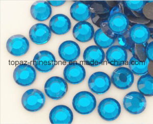 Hot Fix Rhinestone Heat Transfer Glass Beads for Shoes (SS20 Capri Blue/A Grade) pictures & photos