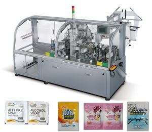 Automatic Horizontal Four-Side Sealing Wet Tissue Packing Machine pictures & photos